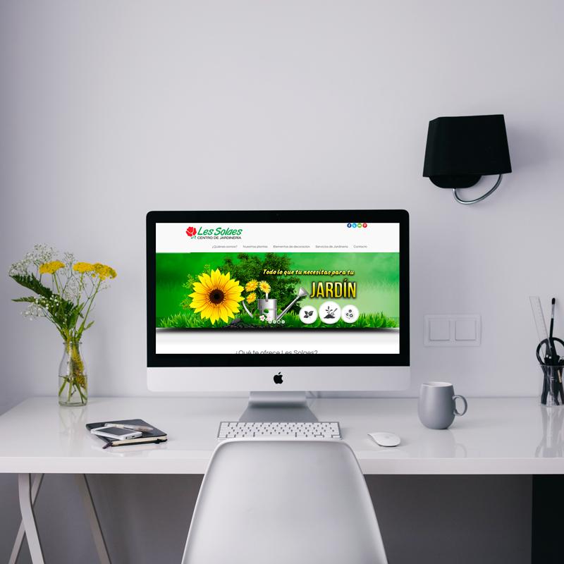 Mock up portfolio web jardinería