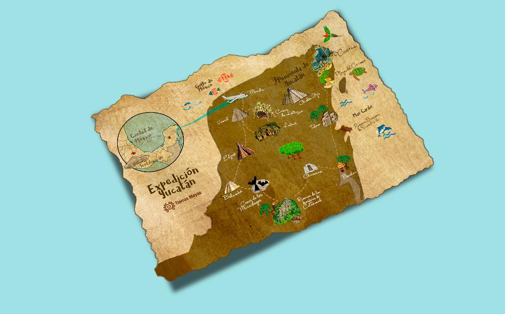 Mock up Mapa Riviera Maya