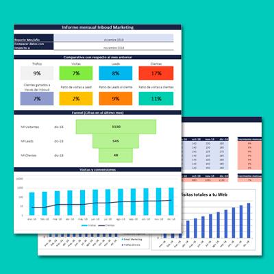 Descarga infografía gratuita: Informe mensual Inboud Marketing