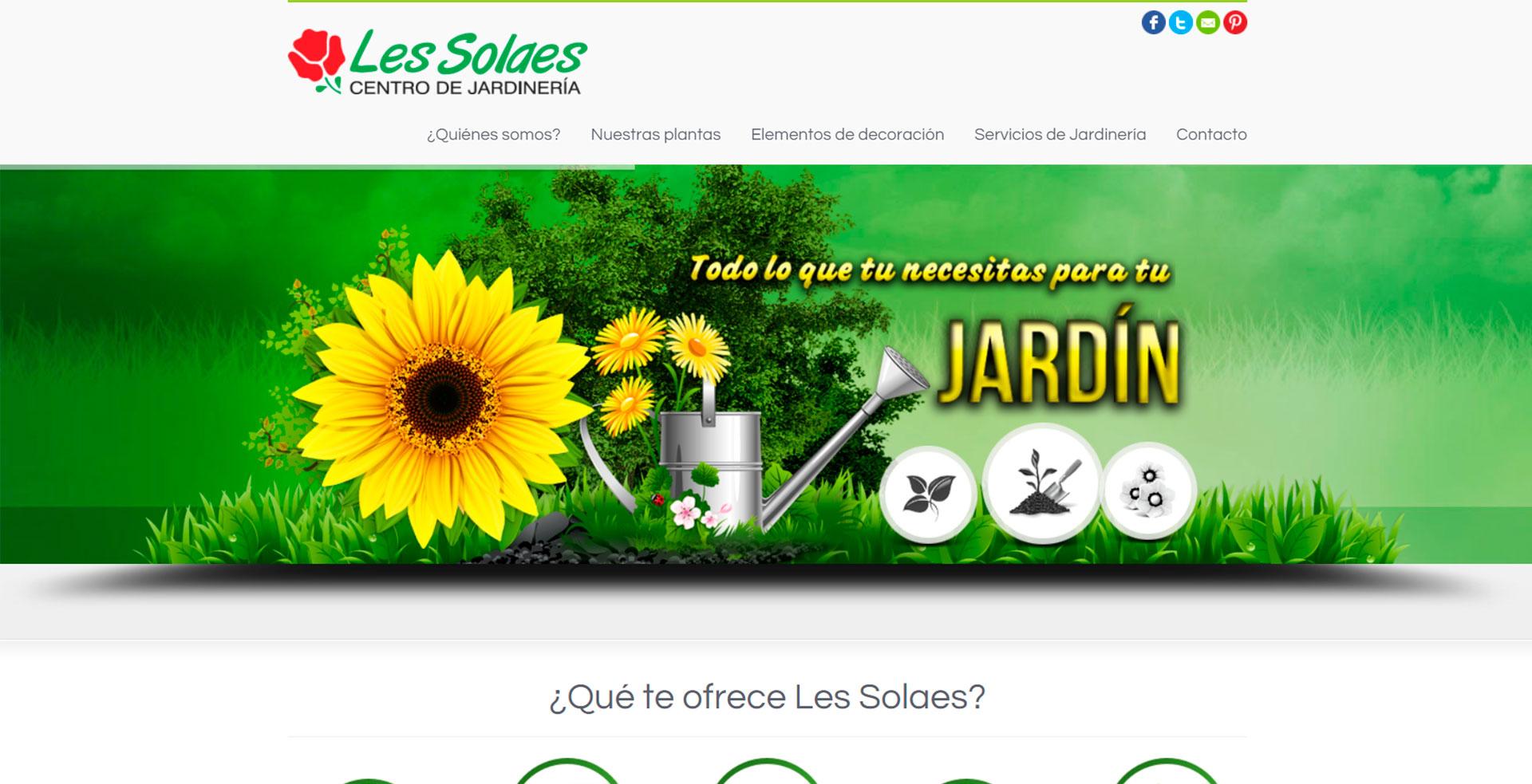 Capturas de pantalla web jardinería